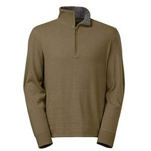 The North Face 1/4 Zip Sweater Burnt Olive S